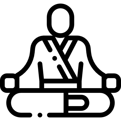 outline of a person in a yoga posture
